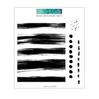 Concord and 9th - Clear Photopolymer Stamps - Brushed Stripe Background