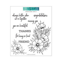 Concord and 9th - Clear Photopolymer Stamps - Meadow Blossoms