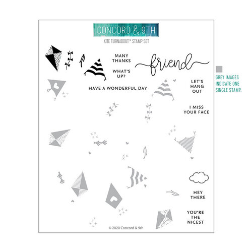 Concord and 9th - Clear Photopolymer Stamps - Kite Turnabout
