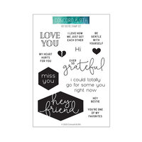 Concord and 9th - Clear Photopolymer Stamps - Hey Bestie