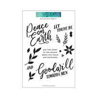 Concord and 9th - Clear Photopolymer Stamps - Peace on Earth