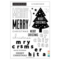 Concord and 9th - Clear Photopolymer Stamps - Christmas - All the Merrys