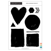 Concord and 9th - Clear Photopolymer Stamps - Painted Shapes