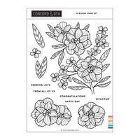Concord and 9th - Clear Photopolymer Stamps - In Bloom