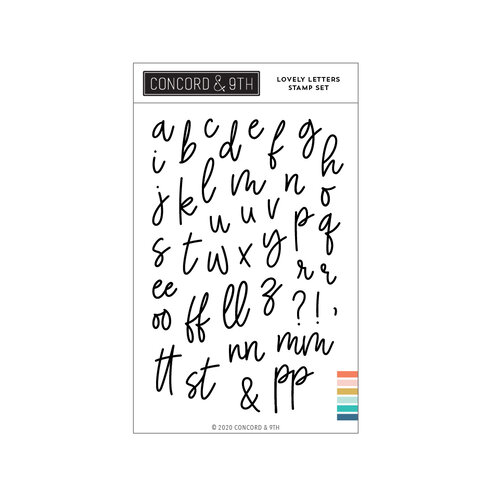 Concord and 9th - Clear Photopolymer Stamps - Lovely Letters