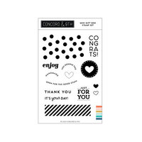 Concord and 9th - Clear Photopolymer Stamps - Mini Gift Box