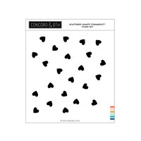 Concord and 9th - Clear Photopolymer Stamps - Scattered Hearts Turnabout