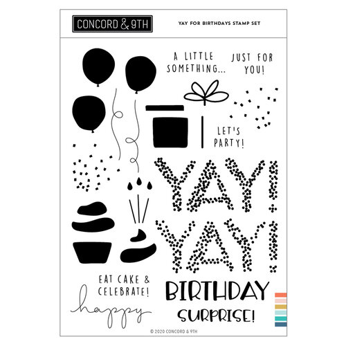 Concord and 9th - Clear Photopolymer Stamps - Yay For Birthdays