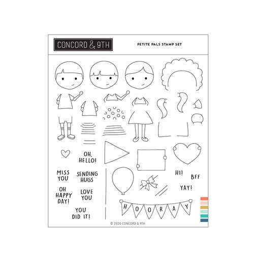 Concord and 9th - Clear Photopolymer Stamps - Petite Pals