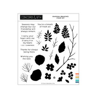 Concord and 9th - Clear Photopolymer Stamps - Seasonal Branches