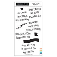 Concord and 9th - Clear Photopolymer Stamps - Banner Builder