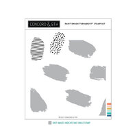 Concord and 9th - Clear Photopolymer Stamps - Paint Swash Turnabout
