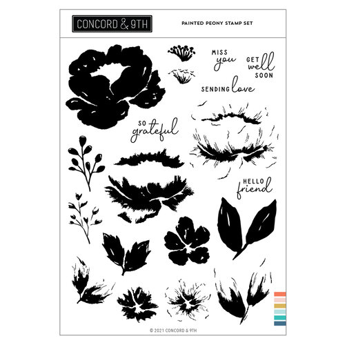 Concord and 9th - Clear Photopolymer Stamps - Painted Peony