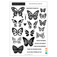Concord and 9th - Clear Photopolymer Stamps - Bold Butterflies