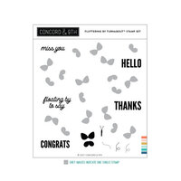 Concord and 9th - Clear Photopolymer Stamps - Fluttering By Turnabout