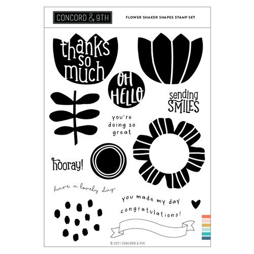 Concord and 9th - Clear Photopolymer Stamps - Flower Shaker Shapes