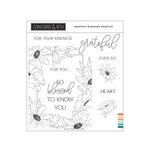 Concord and 9th - Clear Photopolymer Stamps - Heartfelt Blossoms