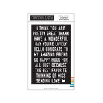Concord and 9th - Clear Photopolymer Stamps - Mix and Match Everyday Sentiments