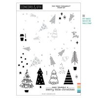 Concord and 9th - Christmas - Clear Photopolymer Stamps - Tiny Trees Turnabout