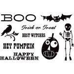 Cosmo Cricket - Haunted Collection - Acrylic Clear Stamps