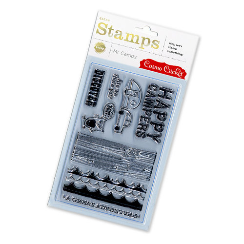 Cosmo Cricket - Mr Campy Collection - Acrylic Clear Stamps