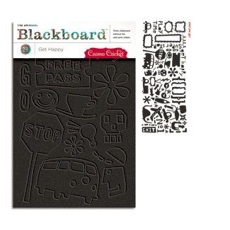 Cosmo Cricket - Get Happy Collection - Blackboard Shapes - Get Happy