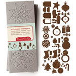 Cosmo Cricket - Be Good Collection - Buck Naked Chipboard - Ornaments , CLEARANCE