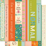 Cosmo Cricket - Girl Friday Collection - 12 x 12 Double Sided Paper - Borders