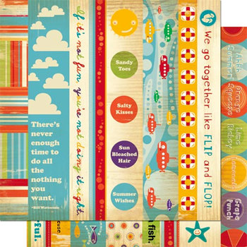Cosmo Cricket - Snorkel Collection - 12 x 12 Double Sided Paper - Borders