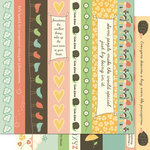 Cosmo Cricket - Earth Love Collection - 12 x 12 Double Sided Paper - Borders