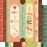 Cosmo Cricket - Nutmeg Collection - 12 x 12 Double Sided Paper - Borders