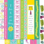 Cosmo Cricket - DeLovely Collection - 12 x 12 Double Sided Paper - Borders