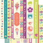 Cosmo Cricket - Pixie-Licious Collection - 12 x 12 Double Sided Paper - Borders