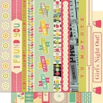Cosmo Cricket - Upcycle Collection - 12 x 12 Double Sided Paper - Borders
