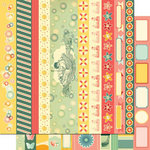 Cosmo Cricket - Salt Air Collection - 12 x 12 Double Sided Paper - Borders