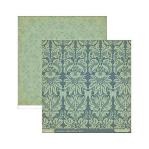 Cosmo Cricket - Evangeline Collection - 12 x 12 Double Sided Paper - Tapestry