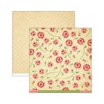 Cosmo Cricket - Tea for Two Collection - 12 x 12 Double Sided Paper - Rose Petal Jam