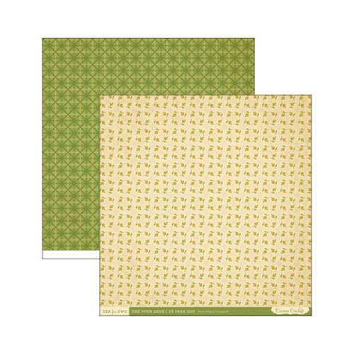 Cosmo Cricket - Tea for Two Collection - 12 x 12 Double Sided Paper - Butter