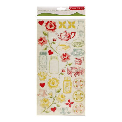 Cosmo Cricket - Tea for Two Collection - Ready Set Chipboard