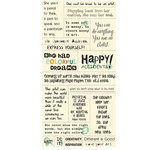 Cosmo Cricket - Cardstock Stickers - Tiny Text - Art