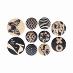 Cosmo Cricket - Elements - Wood Buttons - Natural