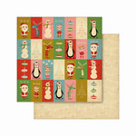 Cosmo Cricket - Jolly Days Collection - Christmas - 12 x 12 Double Sided Paper - Gifts