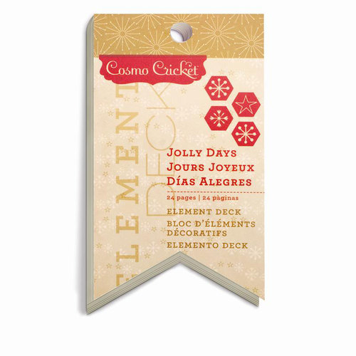 Cosmo Cricket - Jolly Days Collection - Christmas - Element Deck - Designer Tags