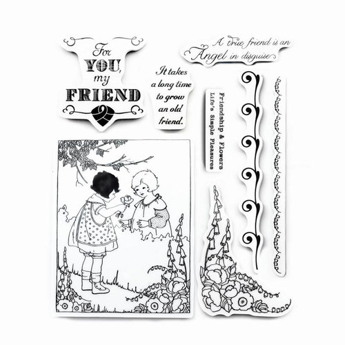 Cosmo Cricket - Art Angel Collection - Cling Mounted Rubber Stamps