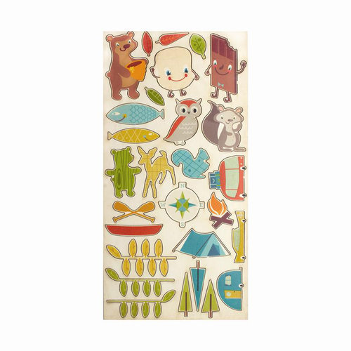 Cosmo Cricket - Smore Love Collection - Ready Set Chipboard