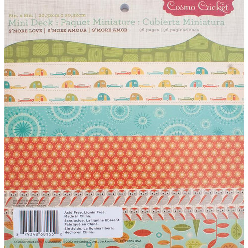 Cosmo Cricket - Smore Love Collection - Mini Deck - 8 x 8 Paper Pad