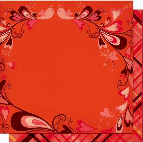 Cosmo Cricket - Chemistry Collection - Valentines - 12 x 12 Double Sided Paper - Togetherness, CLEARANCE