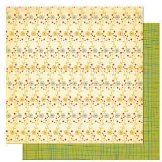Cosmo Cricket - Early Bird Collection - 12 x 12 Double Sided Paper - Apron Strings