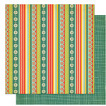 Cosmo Cricket - Early Bird Collection - 12 x 12 Double Sided Paper - Ribbon Sandwich