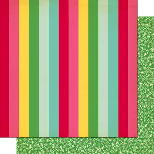 Cosmo Cricket - Jolly By Golly Collection - 12 x 12 Double Sided Paper - Sweater Weather